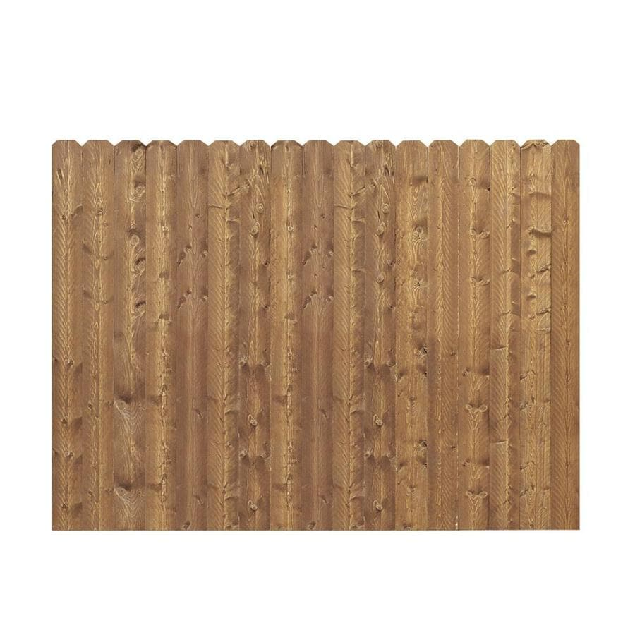 Barrette (Common: 6-ft x 8-ft; Actual: 5.91-ft x 8-ft) Cedar Spruce Pine Fir Privacy Fence Panel