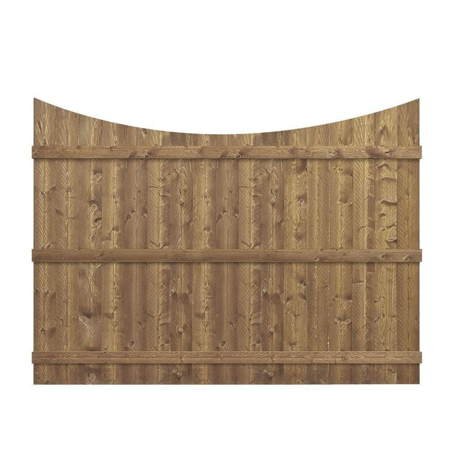 Barrette (Actual: 5.91-ft x 8-ft) Cedar Spruce Pine Fir Privacy Fence Panel