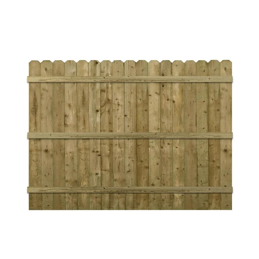 Barrette Brown Pressure Treated Spruce Pine Fir Privacy Fence Panel (Common: 6-ft x 8-ft; Actual: 5.91-ft x 8-ft)