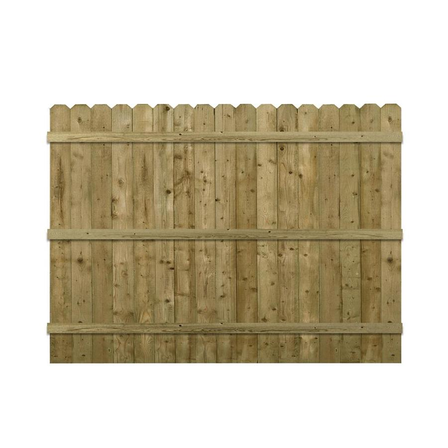 Barrette (Actual: 5.91-ft x 8-ft) Brown Pressure Treated Spruce Pine Fir Privacy Fence Panel