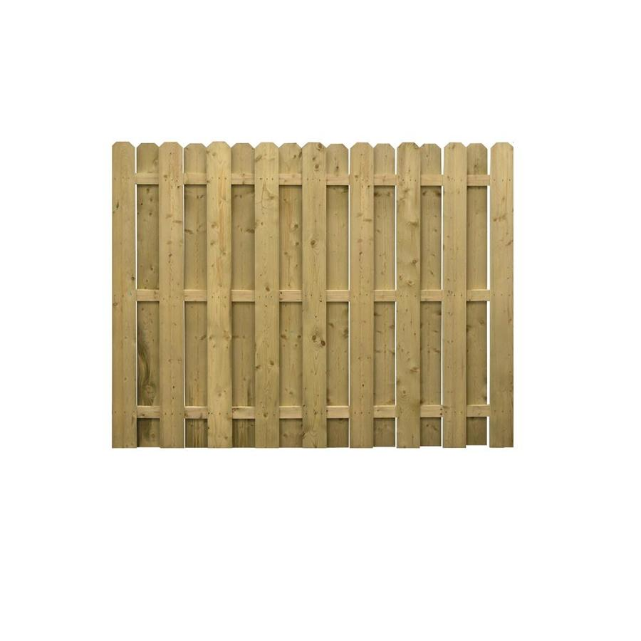 Severe Weather Pressure Treated Spruce Pine Fir Privacy Fence Panel (Common: 6-ft x 8-ft; Actual: 5.91-ft x 8-ft)