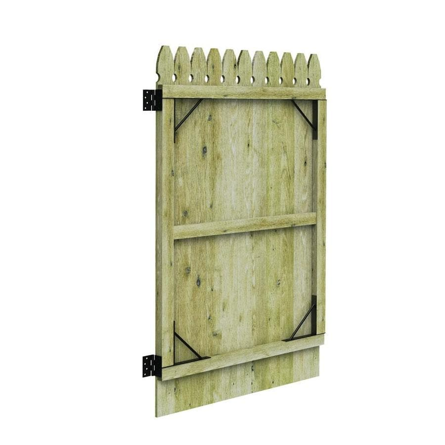 Barrette (Common: 6-ft x 3-ft; Actual: 6-ft x 3.11-ft) Pressure Treated Spruce Pine Fir Privacy Gate