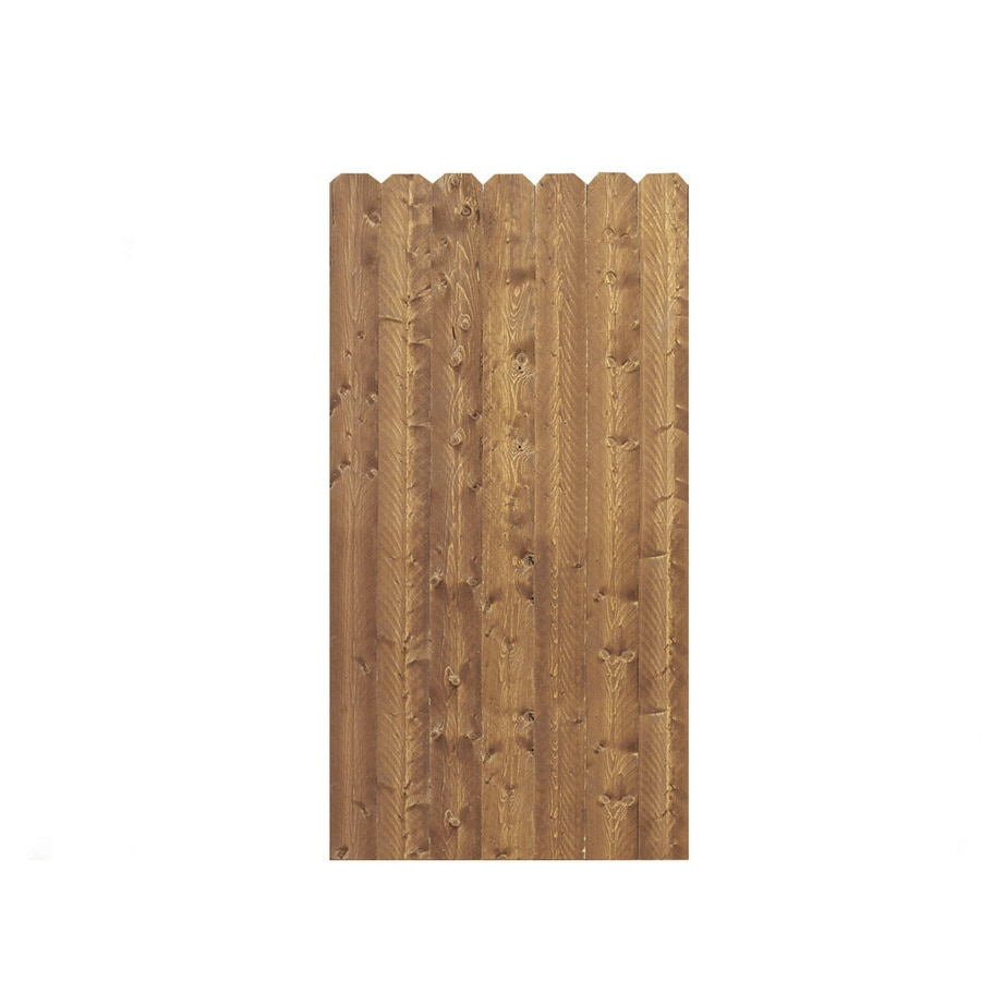 Barrette (Common: 6-ft x 3-ft; Actual: 6-ft x 3.11-ft) Cedartone Spruce Pine Fir Privacy Gate
