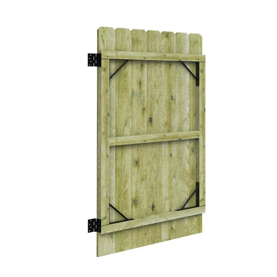 Barrette Pressure Treated Spruce Pine Fir Privacy Fence Gate (Common: 6-ft x 3-ft; Actual: 6-ft x 3.11-ft)
