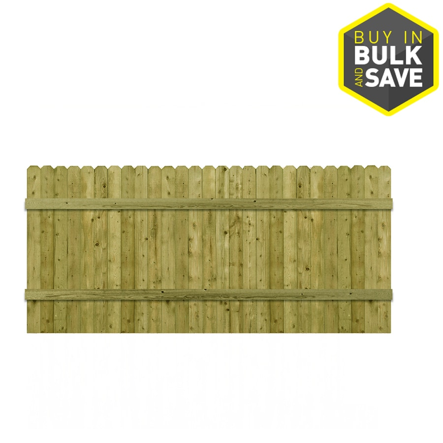 Barrette 3.5-ft x 8-ft Spruce Dog-Ear Wood Fence Panel