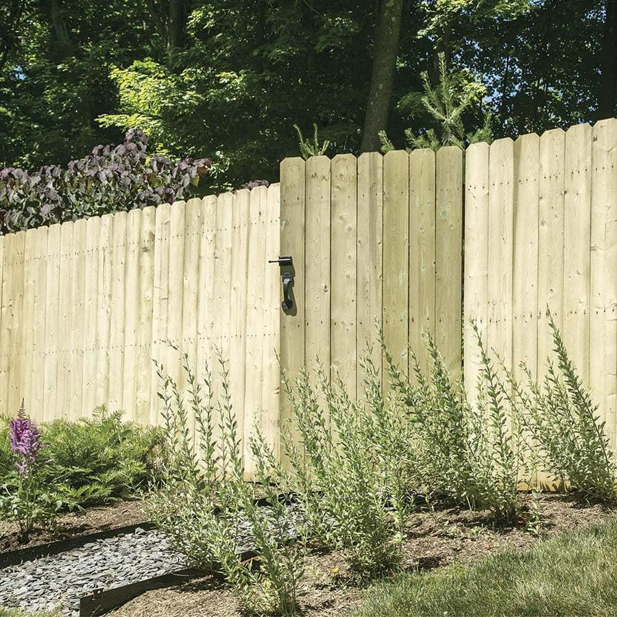 Shop fence panels at lowes severe weather actual 592 ft x 8 ft pressure treated spruce baanklon Choice Image