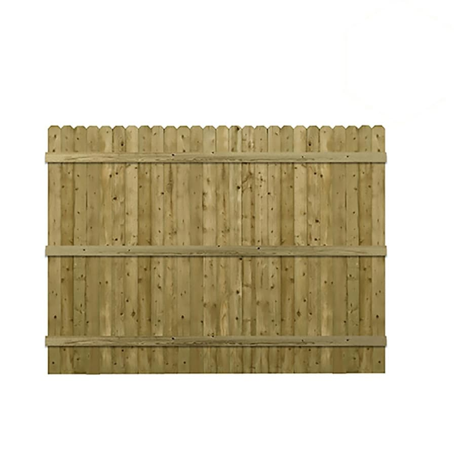 Severe Weather (Common: 6-ft x 8-ft; Actual: 5.91-ft x 8-ft) Pressure Treated Spruce Pine Fir Privacy Fence Panel