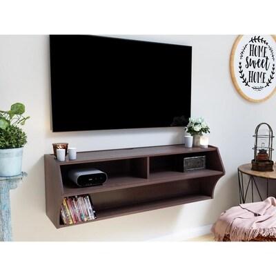 Altus Espresso Wall Mounted Tv Stand