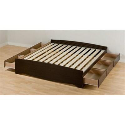 Mate S Espresso King Platform Bed With Storage