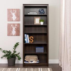 Prepac Espresso 6 Shelf Bookcase