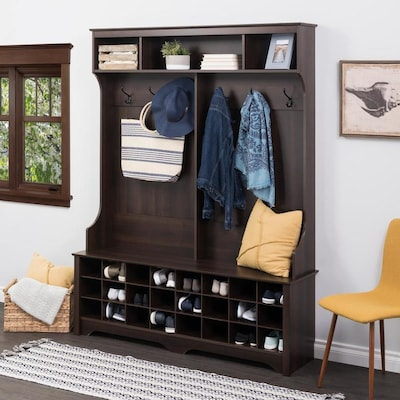 Admirable Prepac Entryway Espresso 6 Hook Coat Stand At Lowes Com Ncnpc Chair Design For Home Ncnpcorg
