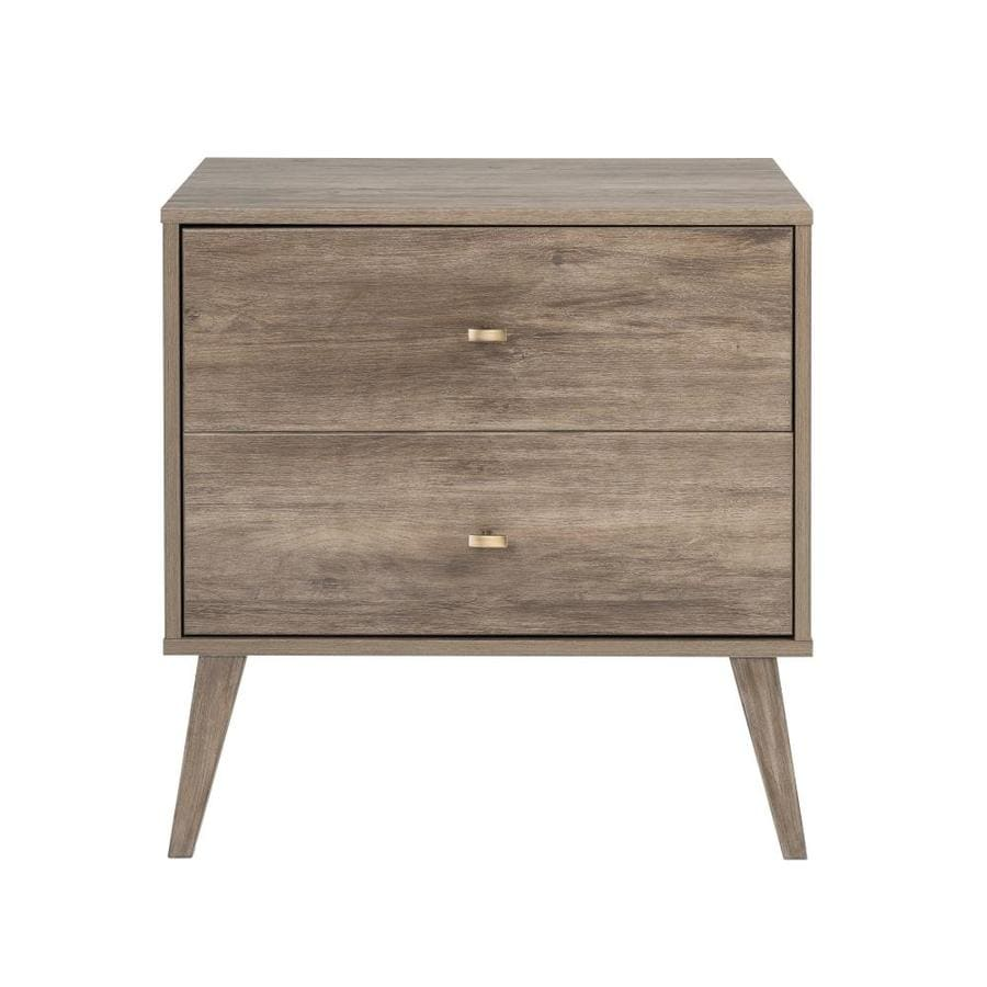 Prepac Milo 2-Drawer Nightstand, Drifted Gray at Lowes com