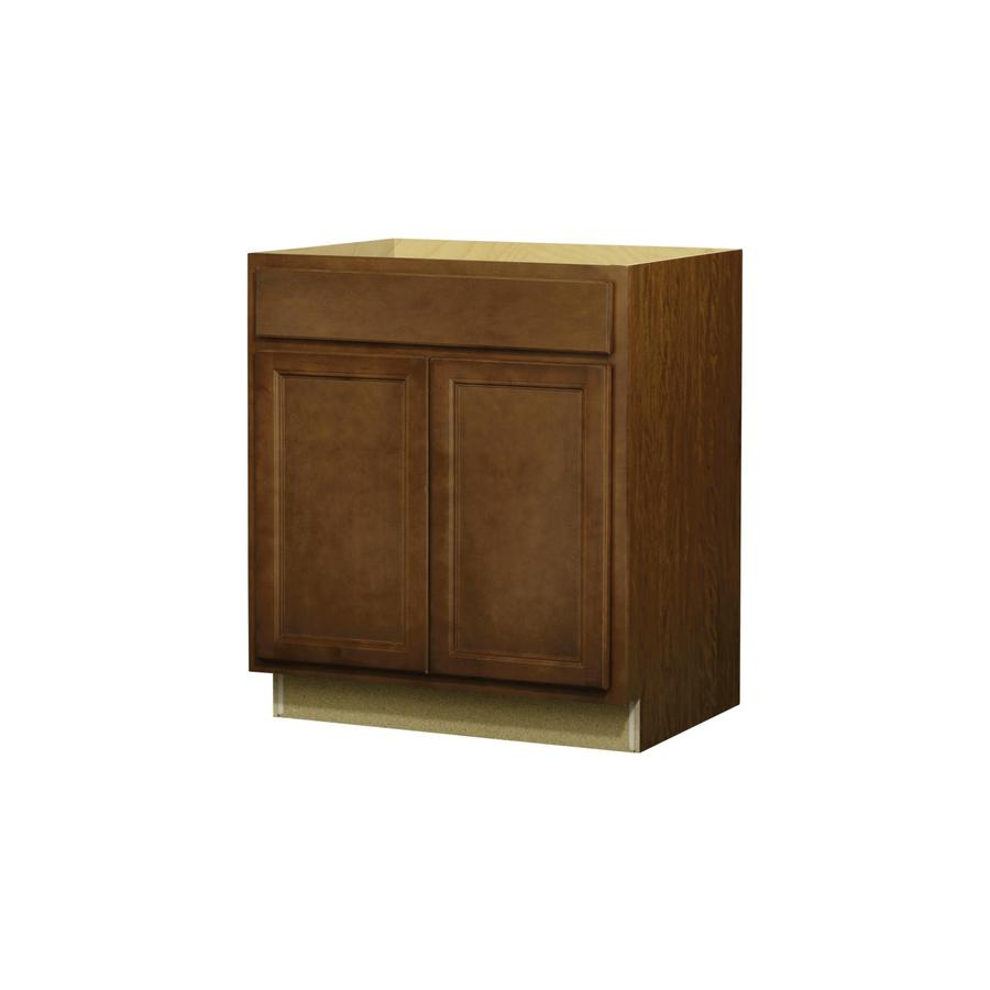 Shop kitchen classics napa 30 in w x 35 in h x d saddle door and drawer base cabinet at Kitchen cabinets 75 off