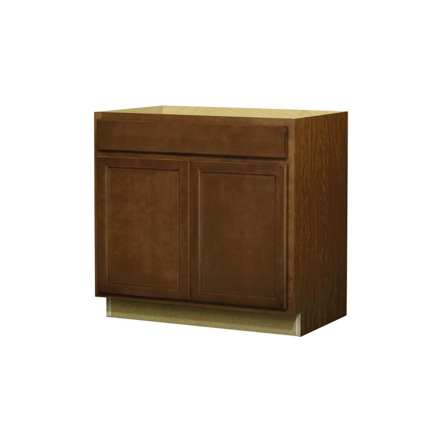 Kitchen Classics Napa 36-in W x 35-in H x 23.75-in D Saddle Door And Drawer Base Cabinet