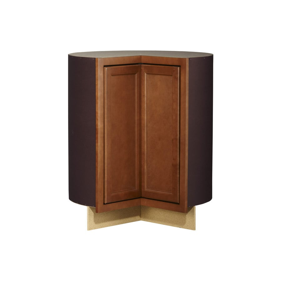 Shop kitchen classics napa 36 in w x 35 in h x d saddle lazy susan corner base cabinet Kitchen cabinets 75 off