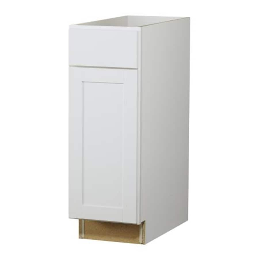 Diamond NOW Arcadia 12-in W x 35-in H x 23.75-in D White Door and Drawer Base Cabinet