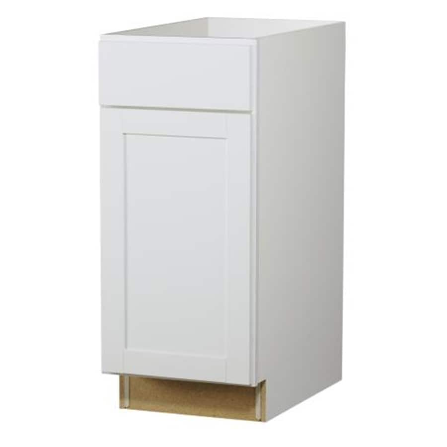 Diamond NOW Arcadia 15.0-in W x 35.0-in H x 23.75-in D White Door and Drawer Base Cabinet