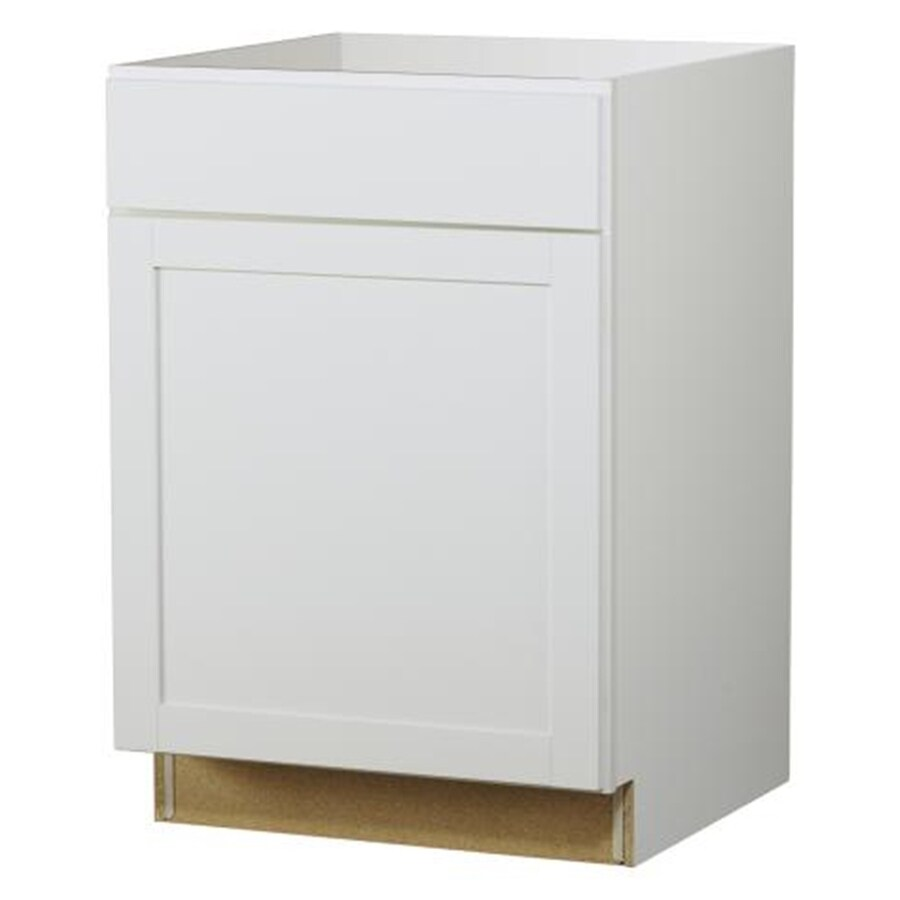 Diamond NOW Arcadia 24-in W x 35-in H x 23.75-in D White Door and Drawer Base Cabinet