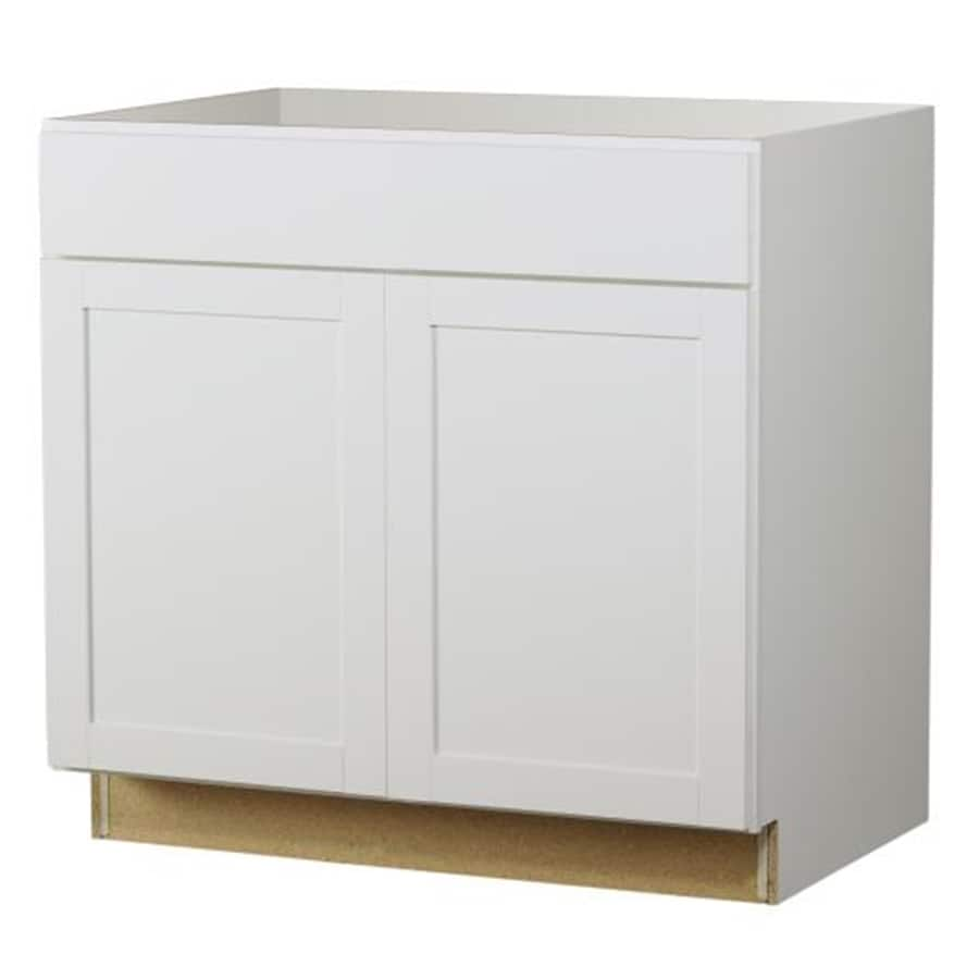 Kitchen Classics Arcadia 36-in W x 35-in H x 23.75-in D White Door and Drawer Base Cabinet