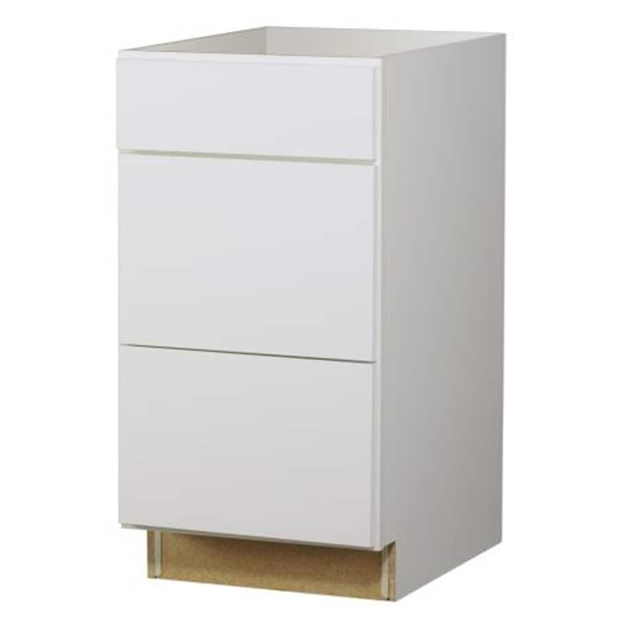 Diamond NOW Arcadia 18-in W x 35-in H x 23.75-in D White Drawer Base Cabinet