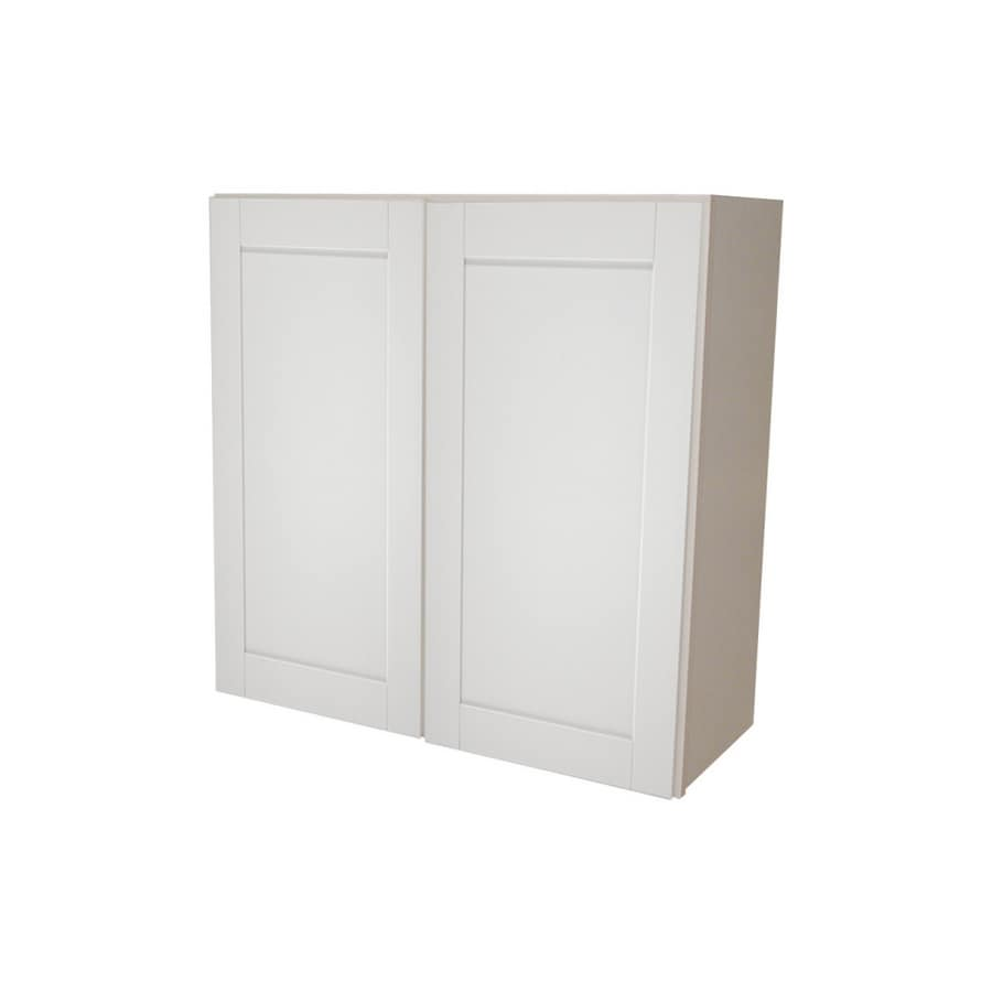 Shop kitchen classics 36quot x 36quot white wall cabinet at for Kitchen cabinets lowes with nappes papiers