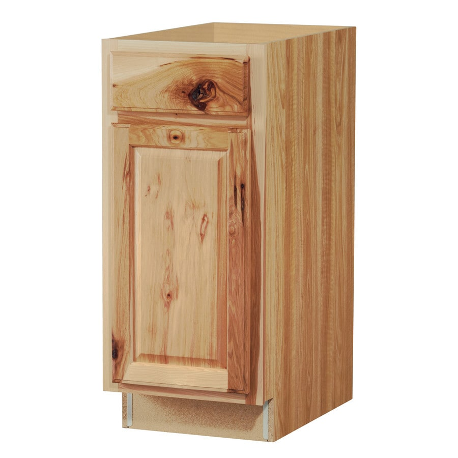 Diamond NOW Denver 15-in W x 35-in H x 23.75-in D Hickory Door and Drawer Base Cabinet