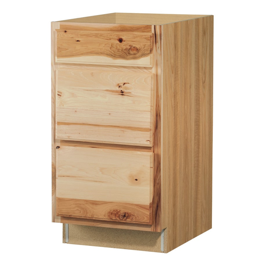 shop diamond now denver 18 in w x 35 in h x d natural drawer base cabinet at. Black Bedroom Furniture Sets. Home Design Ideas