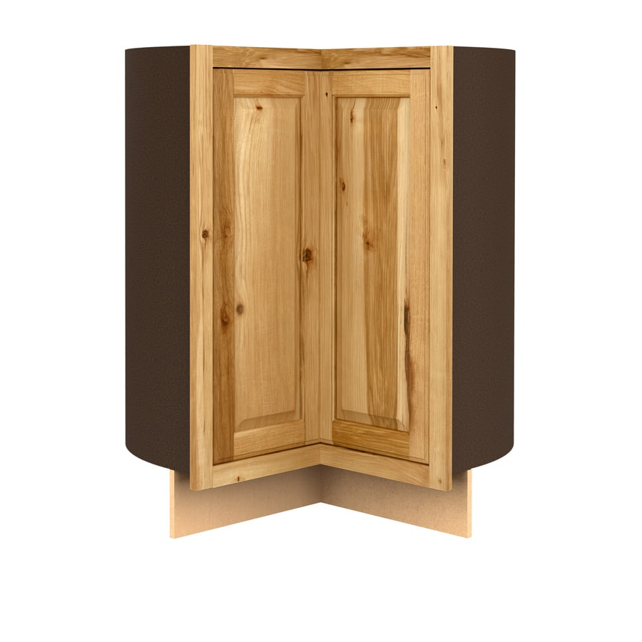 Diamond NOW Denver 36-in W x 35-in H x 23.75-in D Stained Hickory Lazy Susan Corner Base Cabinet