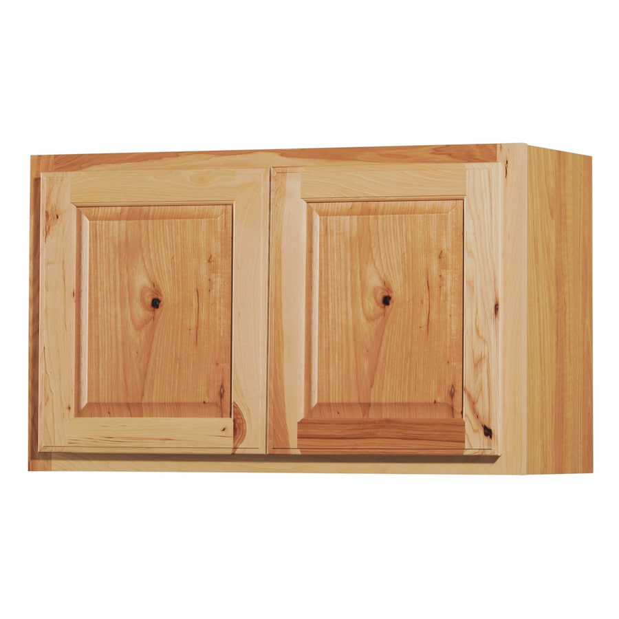 Denver 30 In W X 18 In H X 12 In D Stained Hickory Door Wall Cabinet