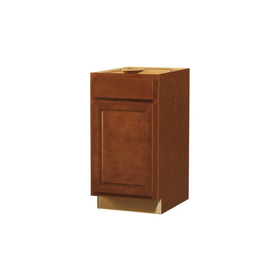 Diamond NOW Cheyenne 18-in W x 35-in H x 23.75-in D Saddle Door and Drawer Base Cabinet