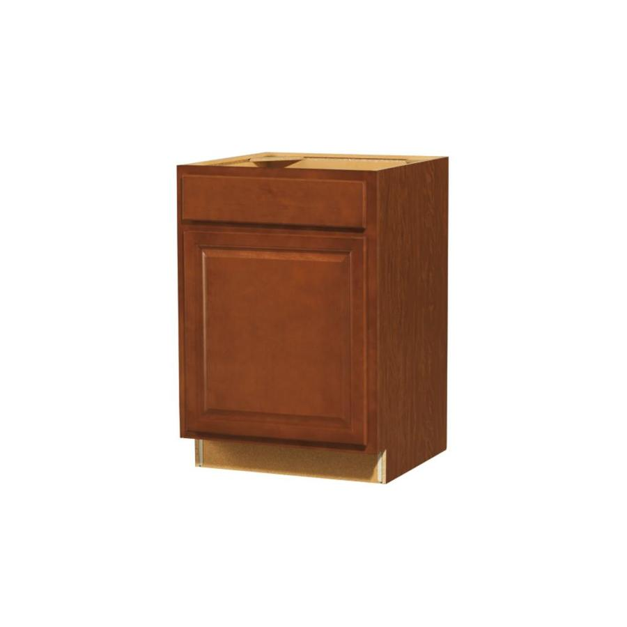 Diamond NOW Cheyenne 24-in W x 35-in H x 23.75-in D Saddle Square Door And Drawer Base Cabinet