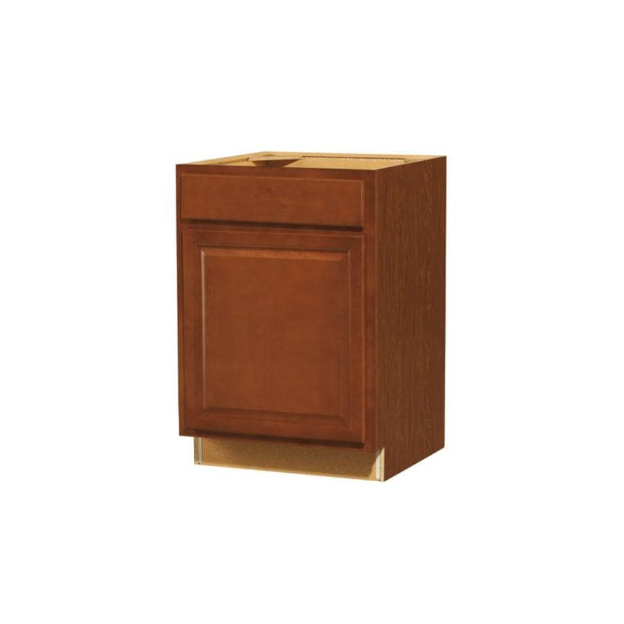 Diamond NOW Cheyenne 24-in W x 35-in H x 23.75-in D Saddle Door and Drawer Base Cabinet