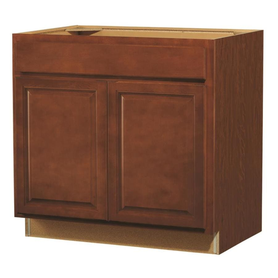 Kitchen Classics Cheyenne 36-in W x 35-in H x 23.75-in D Stained Saddle Door and Drawer Base Cabinet