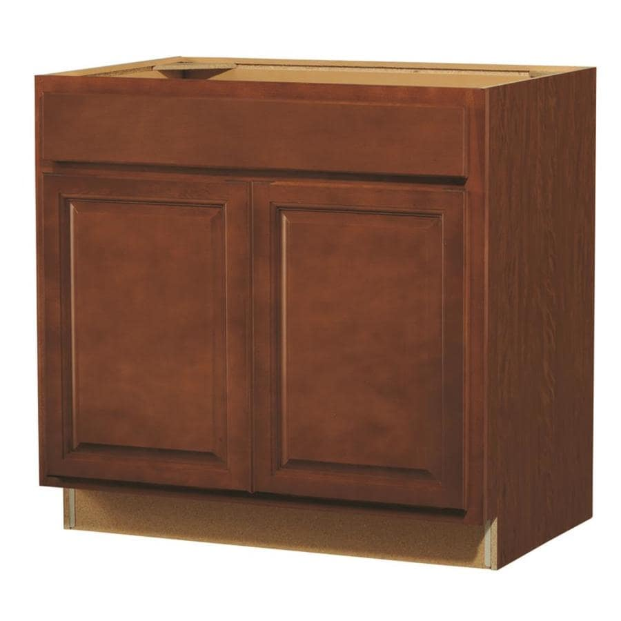 Kitchen Classics Cheyenne 36-in W x 35-in H x 23.75-in D Stained Saddle Sink Base Cabinet