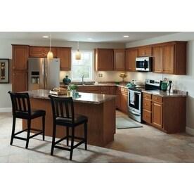 Shop kitchen classics cheyenne 36 in w x 35 in h x for Cheyenne saddle kitchen cabinets