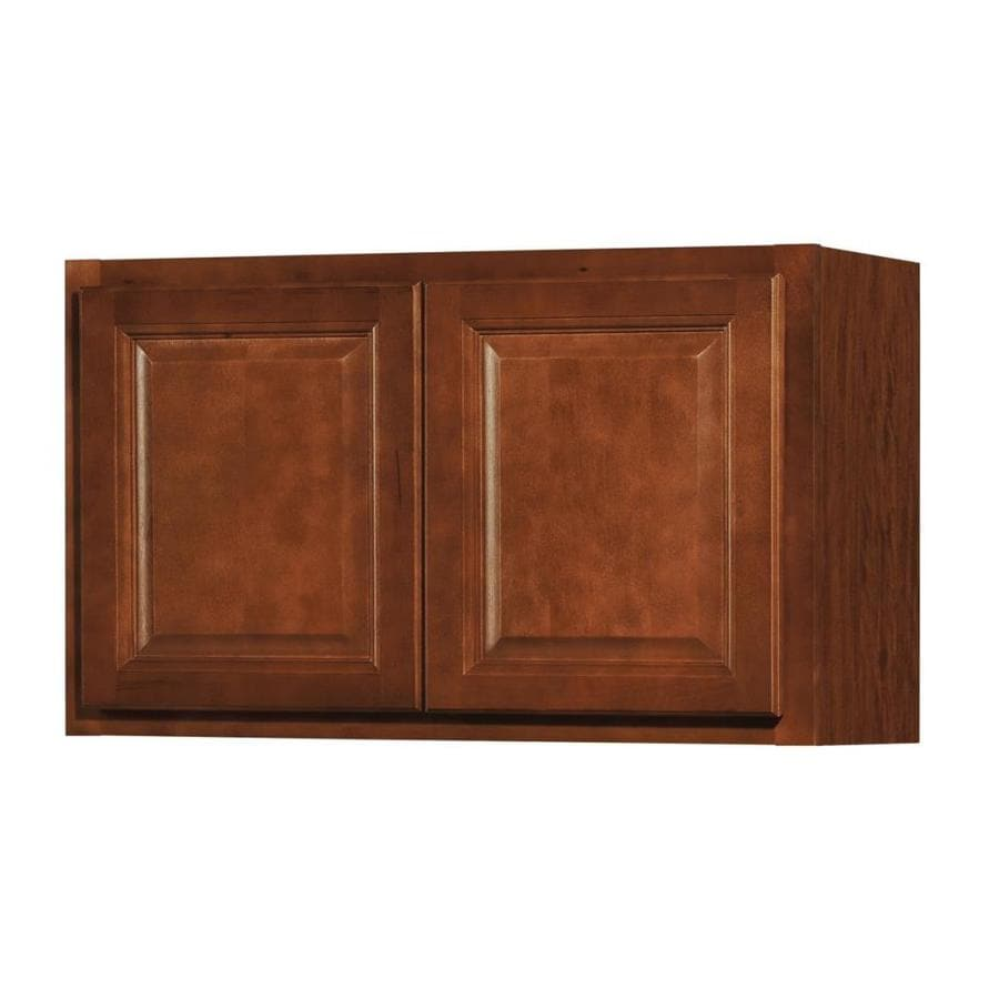 shop kitchen classics cheyenne 30 in w x 18 in h x 12 in d saddle door wall cabinet at. Black Bedroom Furniture Sets. Home Design Ideas