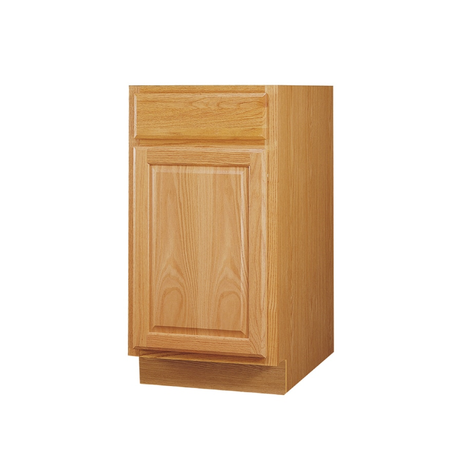Kitchen Classics 34.5-in H x 12-in W x 24-in D Oak Door and Drawer Base Cabinet
