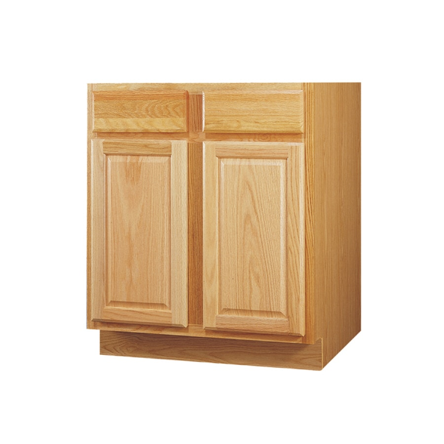 Kitchen Classics 34.5-in H x 36-in W x 24-in D Oak Sink ...