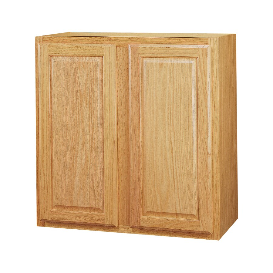 Kitchen Classics 30-in x 30-in x 12-in Oak Double Door Kitchen Wall Cabinet
