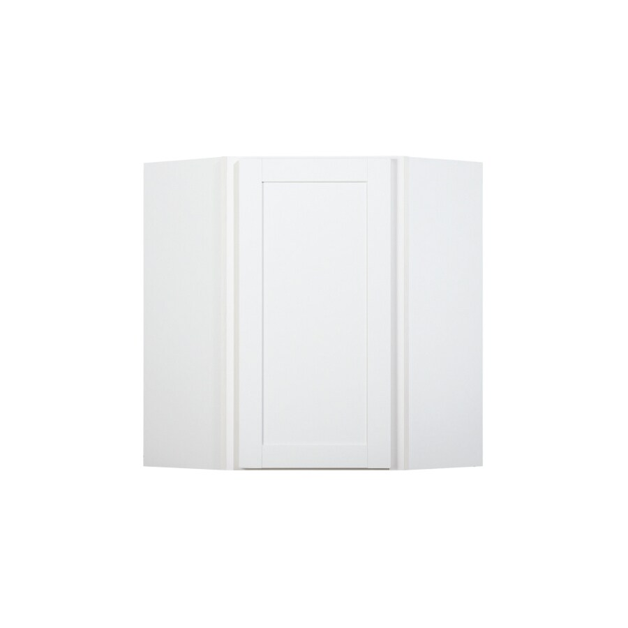 Diamond NOW Arcadia 24-in W x 30-in H x 12-in D White Corner Wall Cabinet