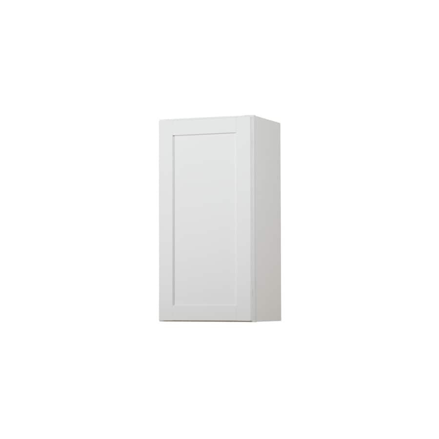 Diamond NOW Arcadia 15-in W x 30-in H x 12-in D White Door Wall Cabinet