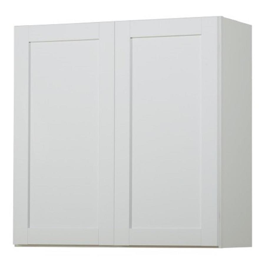 Shop kitchen classics arcadia 30 in w x 30 in h x 12 in d for White kitchen wall cabinets