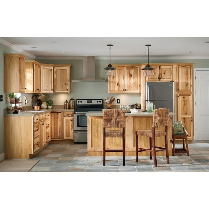 Kitchen Classics Denver 30 In W X 12 In H X 12 In D Stained Hickory Door Wall Cabinet In The Stock Kitchen Cabinets Department At Lowes Com