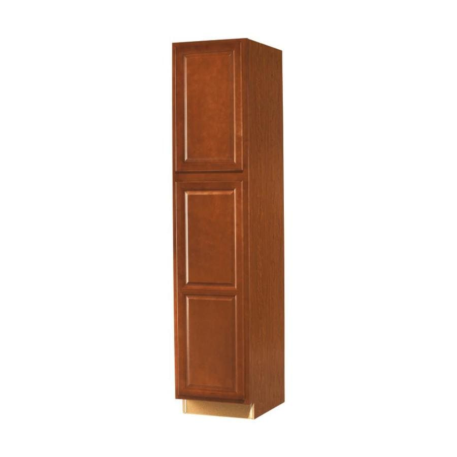 Diamond NOW Cheyenne 18-in W x 84-in H x 23.75-in D Saddle Door Pantry Cabinet