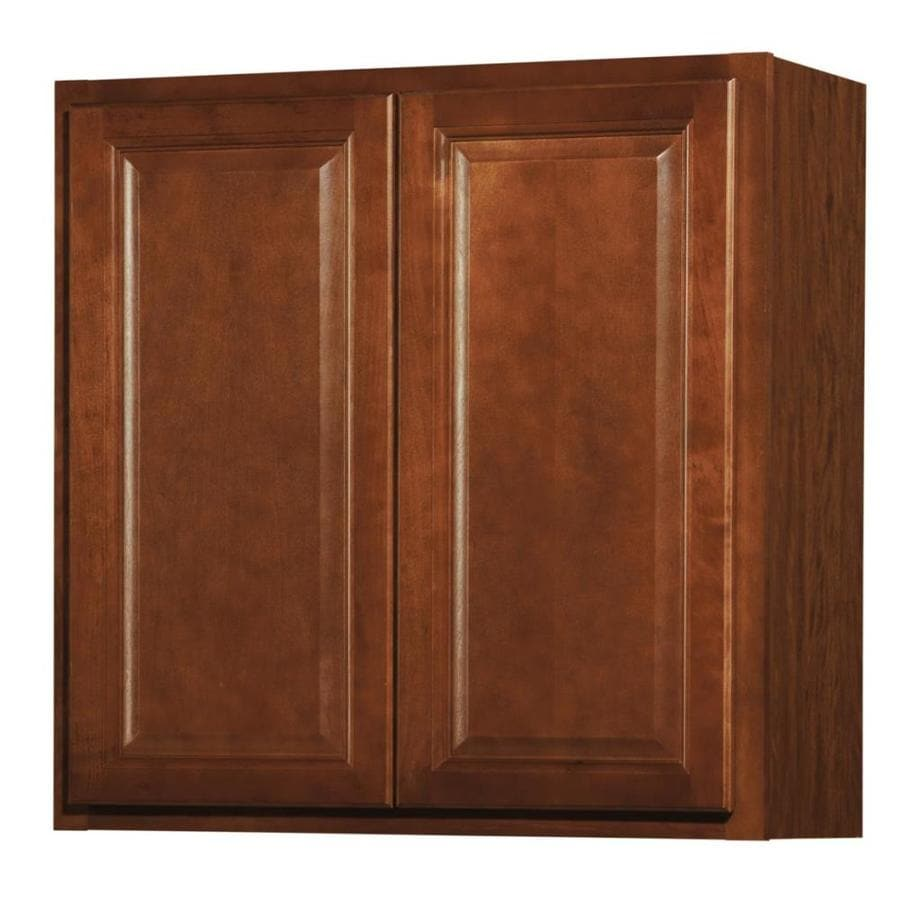 shop kitchen classics cheyenne 30 in w x 30 in h x 12 in d saddle door wall cabinet at. Black Bedroom Furniture Sets. Home Design Ideas