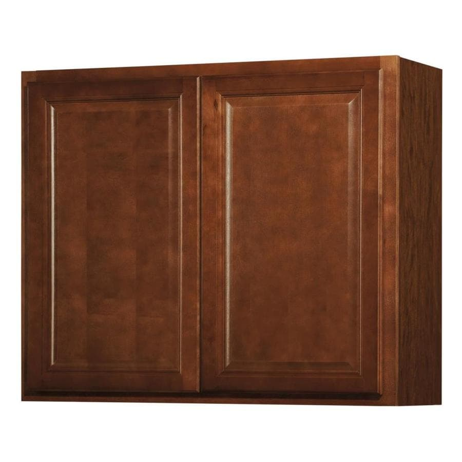 Kitchen Classics 30-in x 36-in x 12-in Cheyenne Saddle Double Door Kitchen Wall Cabinet