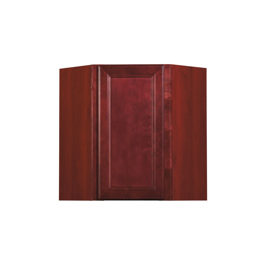 Kitchen Classics 30 In H X 24 In W X 12 In D Merlot Corner Wall Cabinet At Lowes Com