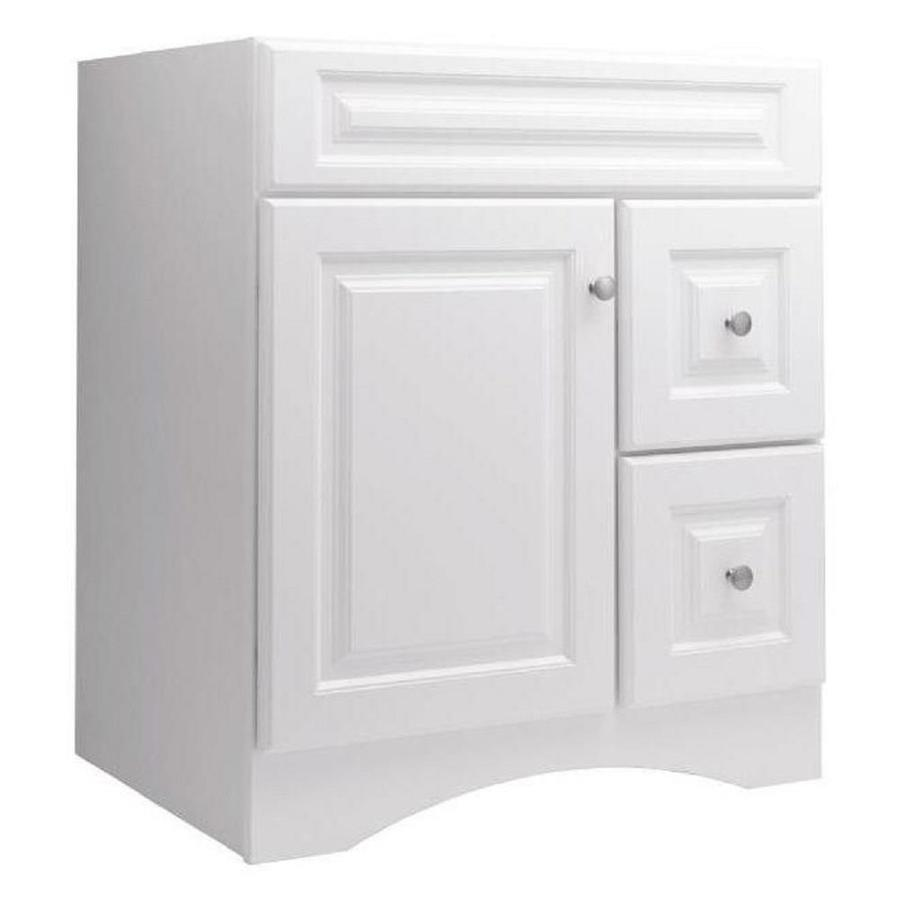 Style Selections Northrup White Bathroom Vanity (Common: 30 In X 21 In