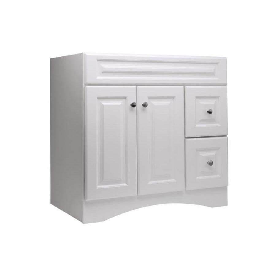 Style Selections Northrup White (Common: 36-in x 21-in) Traditional Bathroom Vanity (Actual: 36-in x 21-in)