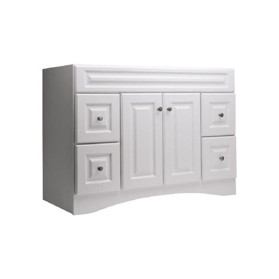 Style Selections Northrup White Bathroom Vanity (Common: 48 In X 21 In